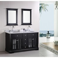 "Design Element Imperial 60"" Double Sink Bathroom Vanity - Espresso DEC306A"