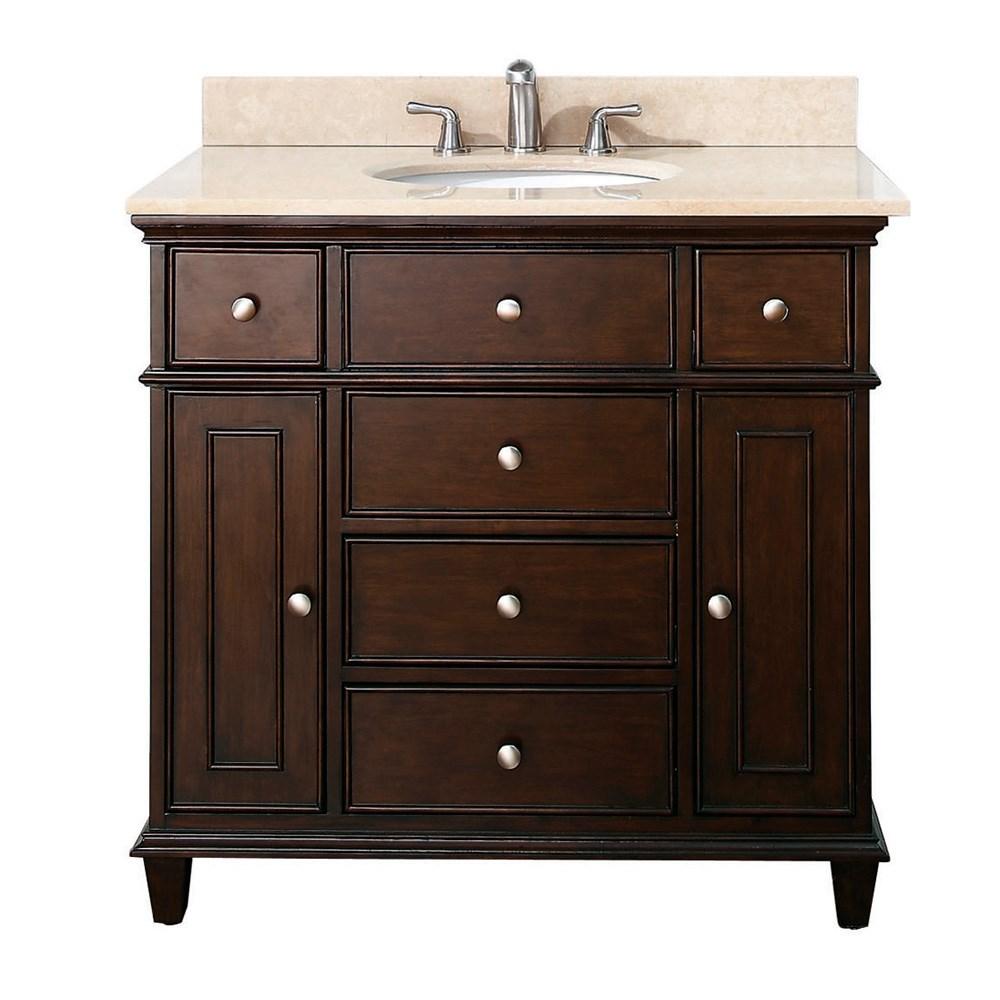 """Avanity Windsor 36"""" Vanity - Walnutnohtin Sale $850.00 SKU: WINDSOR-36-WA :"""