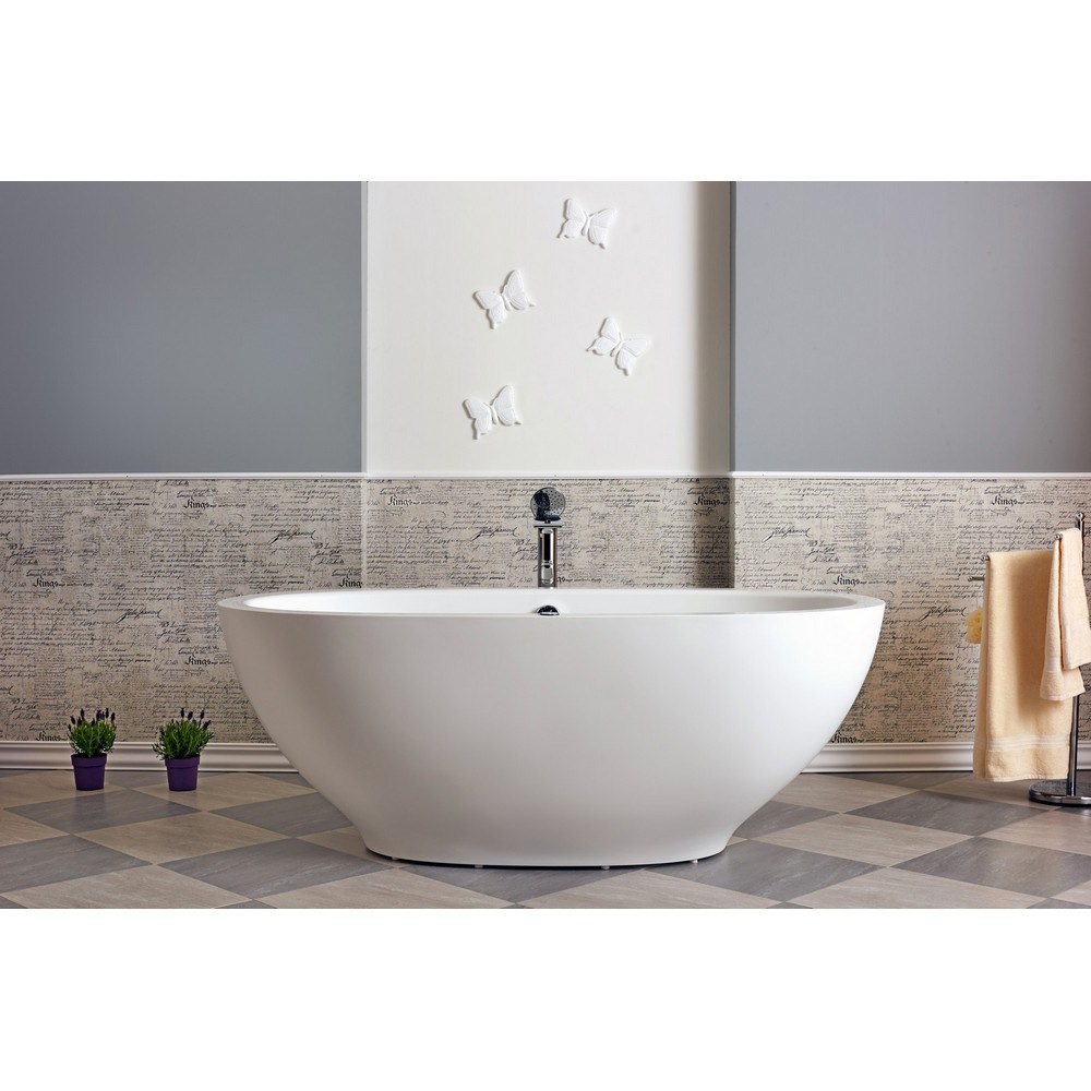 Aquatica Karolina Relax Solid Surface Air Massage Bathtub Matte White