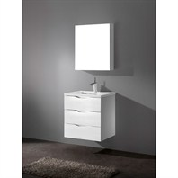 "Madeli Bolano 24"" Bathroom Vanity with Quartzstone Top - Glossy White Bolano-24-GW-Quartz"