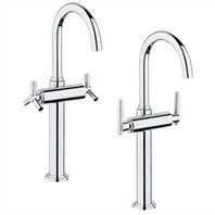 Grohe Atrio Deck-Mount Vessel Faucet - Starlight Chrome