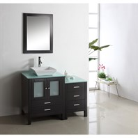 "Virtu USA Brentford 46"" Single Sink Bathroom Vanity - Espresso MS-4446"