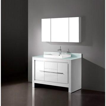 "Madeli Vicenza 48"" Bathroom Vanity, Glossy White B999-48C-001-GW by Madeli"