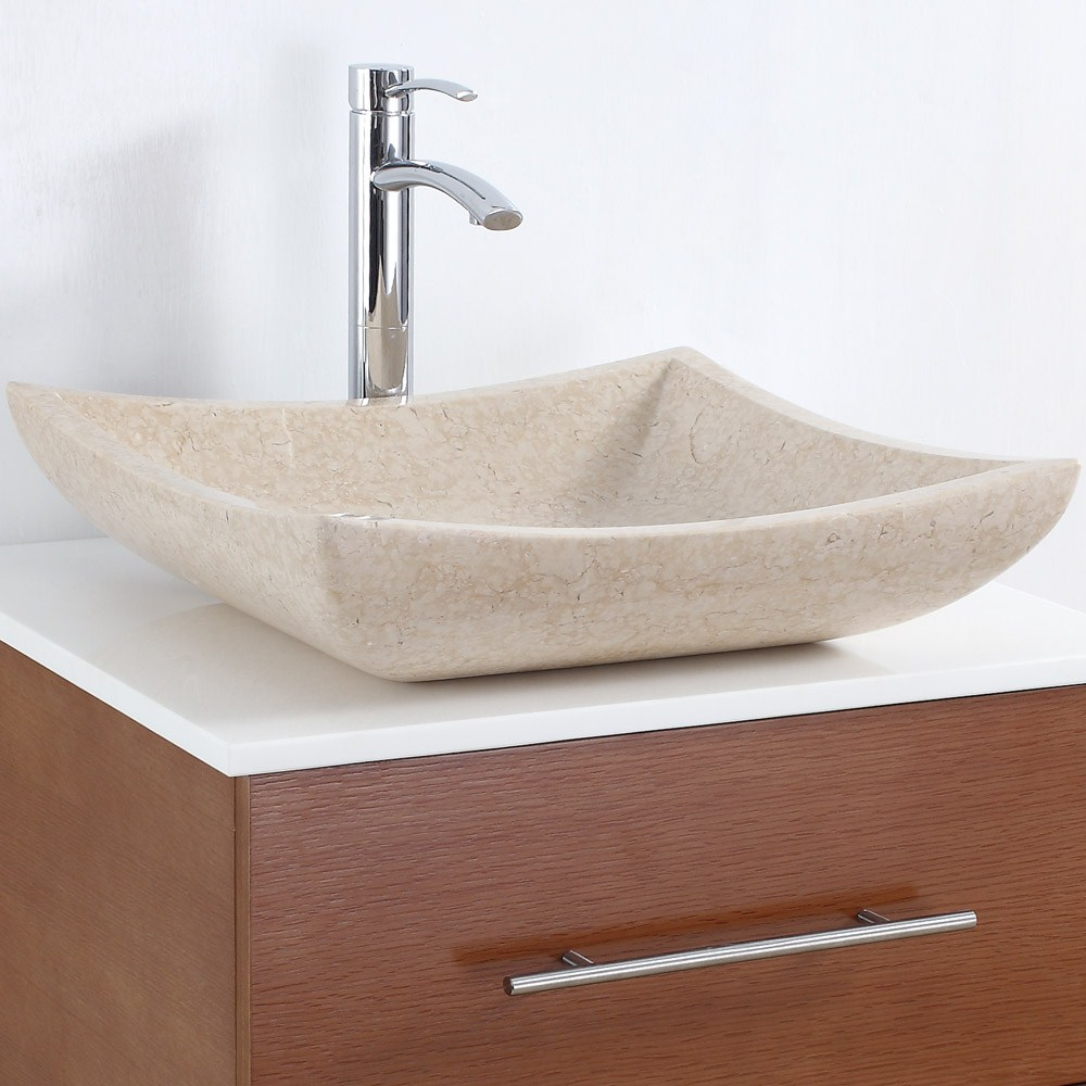 Avalon Vessel Sink by Wyndham Collection - Ivory Marblenohtin