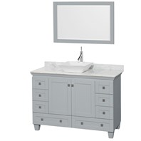 "Acclaim 48"" Single Bathroom Vanity for Vessel Sink by Wyndham Collection - Oyster Gray WC-CG8000-48-SGL-VAN-OYS"