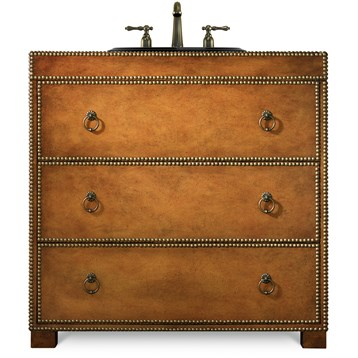 """Cole & Co. 36"""" Designer Series Grayson Hall Chest, Burnished medium Robus leather 11.22.275536.62 by Cole & Co."""