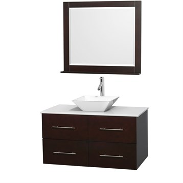 "Centra 42"" Single Bathroom Vanity for Vessel Sink by Wyndham Collection, Espresso WC-WHE009-42-SGL-VAN-ESP_ by Wyndham Collection®"