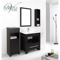 "Virtu USA Masselin 32"" Single Sink Bathroom Vanity Set - Espresso ES-2432-C-ES"