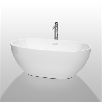 Juno 63 soaking bathtub by wyndham collection white for Most comfortable tub reviews