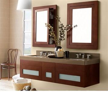 Ronbow rebecca 58 double vanity undermount free shipping modern bathroom