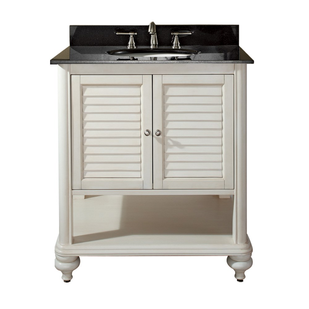"Avanity Tropica 31"" Bathroom Vanity with Countertop - Antique Whitenohtin Sale $921.40 SKU: TROPICA-30-AW :"