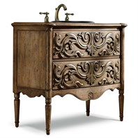 "Cole & Co. 38"" Designer Series Madison Hall Chest - Handpainted Medium Pecan and Ash 11.22.275538.60"