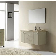 "Virtu USA Carmine 48"" Single Sink Bathroom Vanity - Ivory UM-3087-CM-I"