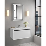 "Fairmont Designs M4 36"" Wall Mount Vanity for Integrated Sinktop - Glossy White 1525-WV36-"