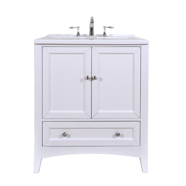"Stufurhome 30.5"" Laundry Utility Sink Vanity - Pure White GM-Y01W"