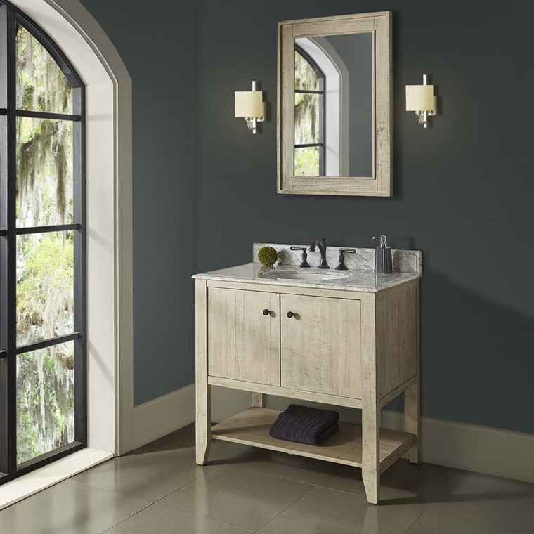"Fairmont Designs River View 36"" Open Shelf Vanity for Undermount Oval Top - Toasted Almond 1515-VH36_"