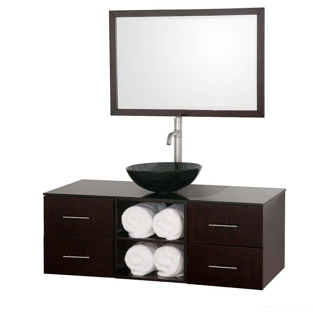 Abba 48 inch Vanity Set by Wyndham Collection Espresso