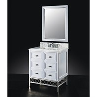 "Luxe Raines 30"" Single Bathroom Vanity - High Gloss White B7036BV30-PT59"