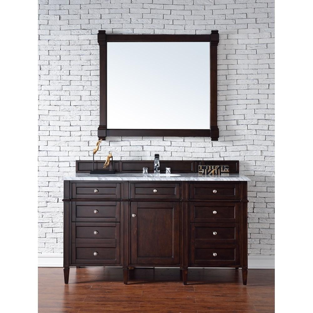 "James Martin 60"" Brittany Single Vanity - Burnished Mahoganynohtin Sale $1395.00 SKU: 650-V60S-BNM :"