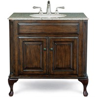 "Cole & Co. 37"" Custom Collection Large Classic Vanity - Antique Brown"