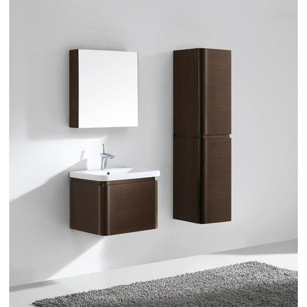 madeli euro 24 bathroom vanity for integrated basin walnut free rh modernbathroom com
