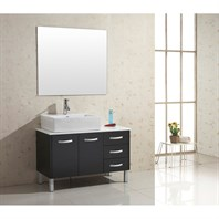 "Virtu USA Tilda 40"" Single Sink Bathroom Vanity - Black UM-3069-S-BL"