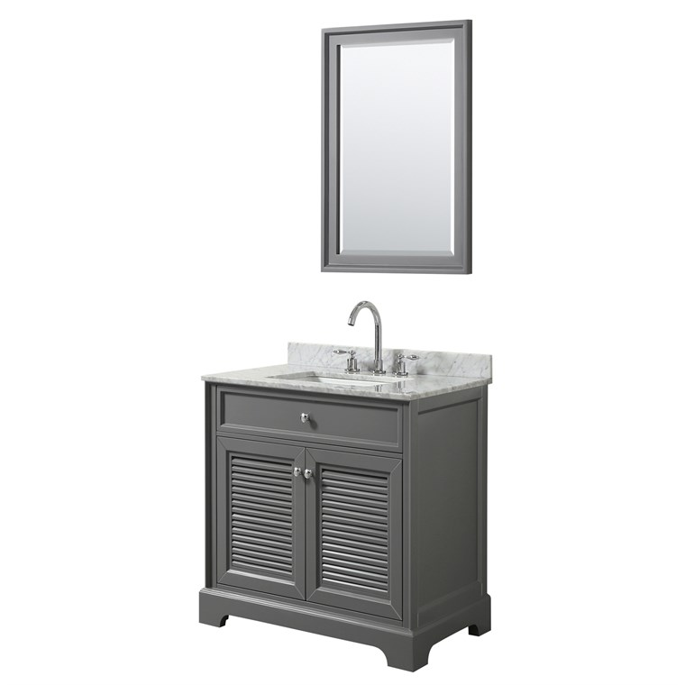 "Tamara 30"" Single Bathroom Vanity by Wyndham Collection - Dark Gray WC-2121-30-SGL-VAN-DKG"