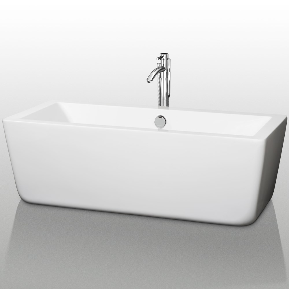 Laura 67 Quot Large Soaking Bathtub By Wyndham Collection