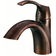 Danze Antioch 1H Lavatory Faucet Single Hole Mount w/ 50/50 Touch Down Drain 1.2gpm - Tumbled Bronze D222522BR
