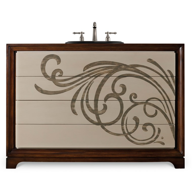 "Cole & Co. 48"" Designer Series Delaney Vanity Chest - Deep Cherry 11.22.275548.07"