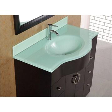 Design element aria 40 modern bathroom vanity espresso for Design element marcos solid wood double sink bathroom vanity