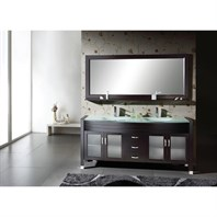"Virtu USA Ava 63"" Double Sink Bathroom Vanity - Espresso MD-499-G-ES"