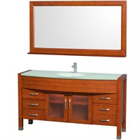 "Daytona 60"" Bathroom Vanity with Mirror by Wyndham Collection - Cherry WC-A-W2109-60-CH"