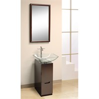 "Bath Authority DreamLine Modern 10"" Bathroom Vanity, Mirror and Sink - Mahogany DL-8151M17-MH"