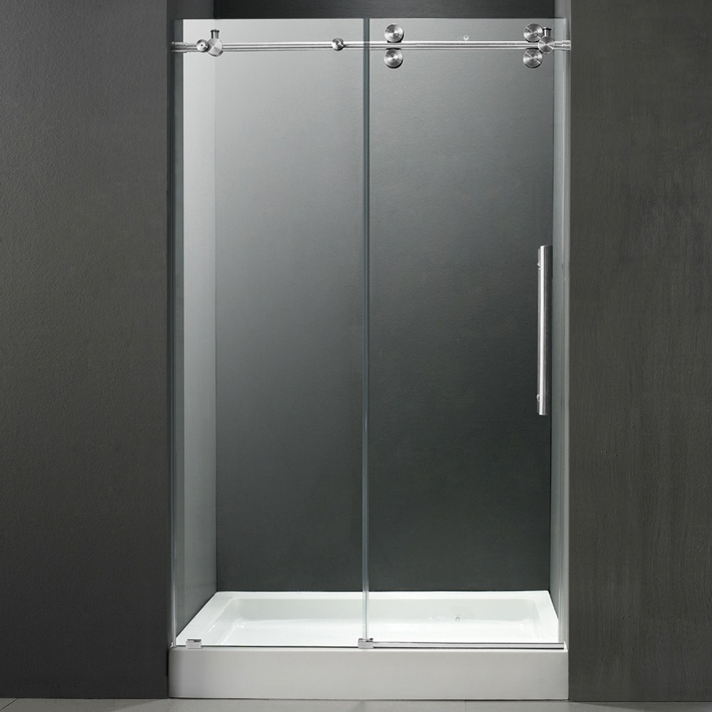 Vigo 60 Inch Frameless Shower Door 38 Clearchrome Hardware With