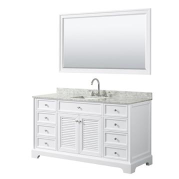 Tamara 60 Single Bathroom Vanity by Wyndham Collection - White
