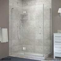 Bath Authority DreamLine UniDoor-X 47 - 48 in. W x 30-3/8 - 34-3/8 in. D x 72 in. H Hinged Shower Enclosure E32330
