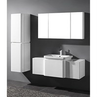 "Madeli Euro 50"" Bathroom Vanity for Integrated Basin - Glossy White B930-24-002-GW, 2X-UC930-12-007-GW"