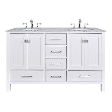 "Stufurhome 60"" Lissa Double Sink Bathroom Vanity, Pure White GM-6412-60-WHT by Stufurhome"