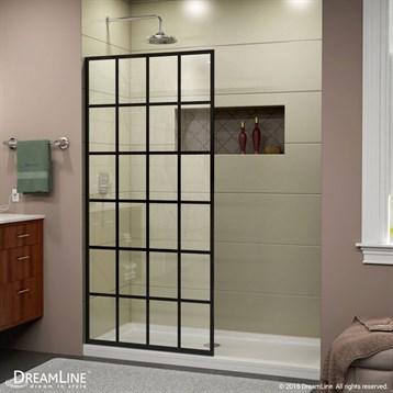 "Bath Authority DreamLine Linea Frameless Shower Door Panel, 34"" x 72"", French Black SHDR-3234721-89 by Bath Authority DreamLine"