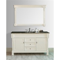"Stufurhome 60"" Galaxy Single Sink Vanity in Cream Finish with Granite Top GM-6406-60-BB"