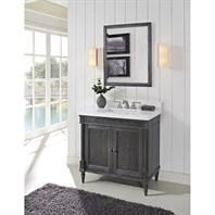 "Fairmont Designs Rustic Chic 36"" Vanity for Quartz Top - Silvered Oak 143-V36"