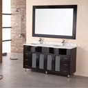 "Design Element Tustin 61"" Double Sink Vanity Set - Espresso DEC096"