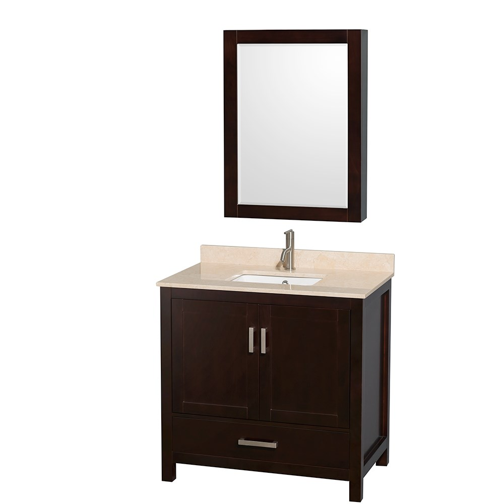 "Sheffield 36"" Single Bathroom Vanity by Wyndham Collection - Espresso WC-1414-36-SGL-VAN-ESP"