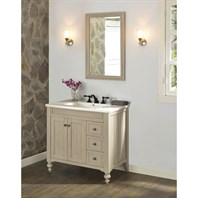 "Fairmont Designs Crosswinds 36"" Vanity Drawers on Right for Integrated Top - Slate Gray 1524-V36R-"