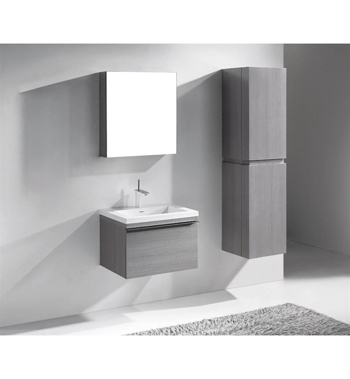"Madeli Venasca 24"" Bathroom Vanity for Integrated Basin - Ash Grey B990-24-002-AG"