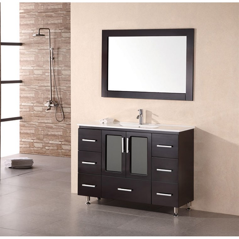"Design Element Stanton 48"" Bathroom Vanity - Espresso B48-DS"