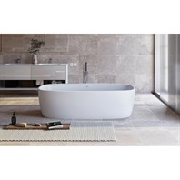 Aquatica Coletta White Freestanding Solid Surface Bathtub - Matte White Aquatica Coletta-Wht
