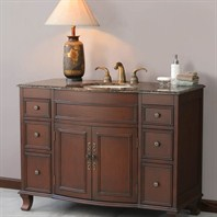 "Virtu USA Natalia 48"" Single Sink Bathroom Vanity - Antique Cherry LS-1029"