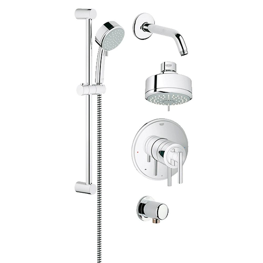 Grohe Atrio Grohflex Bath And Shower Set Starlight Chrome Free